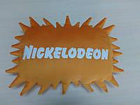 Декоративная подушка с логотипом телеканала Nickelodeon Никелодеон ручной работы