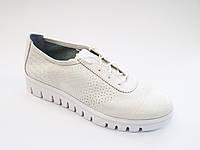 Женские белые летние спортивные туфли на платформе, эко-кожа In-Trend