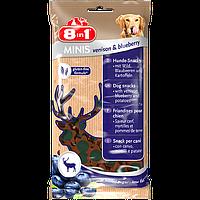 Лакомство 8 in 1 Minis Venison & Blueberry для собак, с олениной и черникой, 100 г, фото 1