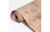 Крафт-бумага Гофре (в гармошку) подарочная Коричневая газета на буром фоне 10 м/рулон