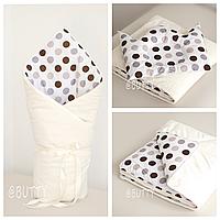 Набор конверт-одеяло и подушка для новорожденного