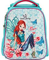 Стильный школьный каркасный рюкзак для девочки 16 л. Kite (Кайт) W17-531M