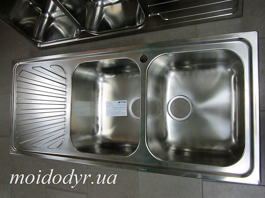 Мойка кухонная из нержавеющей стали Smeg 2B1D