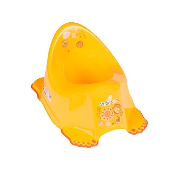 Горшок Tega Folk FL-001 антискользящий  желтый
