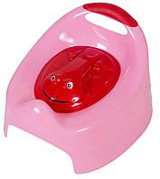 Горшок Tega Жабка С Крышкой AG-004 FROG розовый (с красной крышкой)