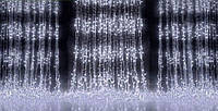 Новогодняя светодиодная гирлянда Водопад 300 LED 3х1 м: мульти, синяя, белая