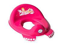 Накладка на унитаз Tega Little Princess LP-002 антискользящая малиновый