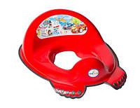 Накладка на унитаз антискользящая Tega CS-002 CARS красный