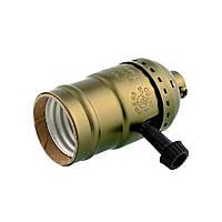 Ретро патрон для лампы Эдисона Е27 (с выключателем-винтом)
