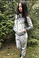 Бархатный прогулочный женский костюм, фото 1