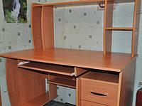 Стол компьютерный прямой С5 с надставкой, эконом, с полочкой под клавиатуру размер h=1295 мм, 1200х700 мм