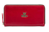 Женский кожаный кошелёк-клатч Gato Negro Discovery GN277 Red