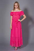 Летнее шифоновое макси платье в пол, Цвет малиновый