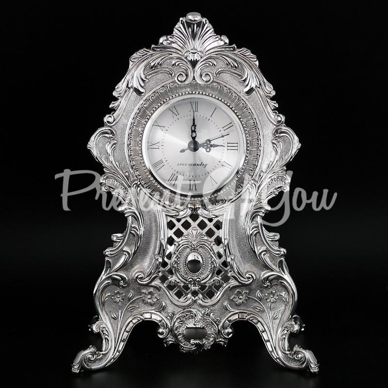 Интерьерные часы, настольние, посеребрение «Версаль?
