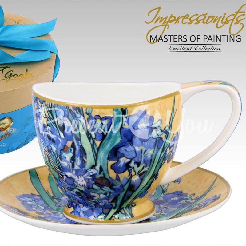 Чашка с блюдцем Ван Гог «Ирисы» Carmani, 280 мл.