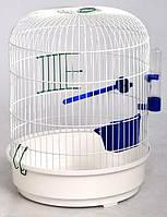 Клетка для птиц Рондо, цельная  золото  D325х440 мм