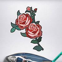 Аппликация, наклейка на ткань Розы [7 размеров в ассортименте]
