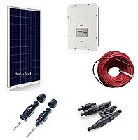Комплект мережевої сонячної електростанції 4 кВт