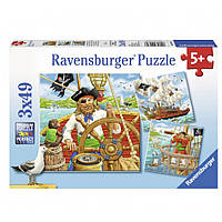 """Пазл-3х49 """"Приключения пиратов"""", Ravensburger"""