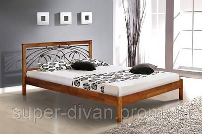 Кровать Карина (Ольха) 1,8 с ковкой