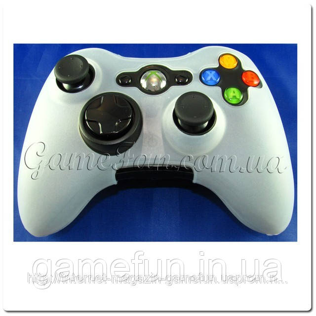 Силиконовый чехол для джойстика Xbox 360 (White)