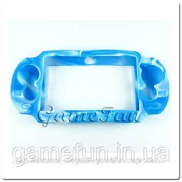 Силіконовий чохол для PS Vita (Камуфляж)(Blue-white) (PCH-1000)