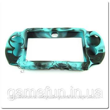 Силіконовий чохол для PS Vita (Камуфляж)(Blue-black) PCH-1000)