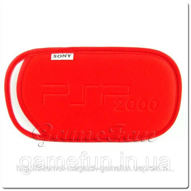 Мягкий Чехол с ремешком PSP(Red)