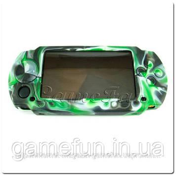 Силіконовий чохол для PSP (камуфляж)(Green-black)