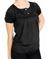 Спортивная женская футболка Adidas №68269 черная