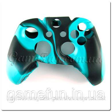 Силиконовый чехол для джойстика Xbox ONE (камуфляж)(Blue-black)