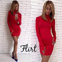 Облегающее мини платье с длинным рукавом
