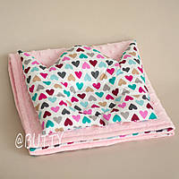 Набор конверт на выписку и подушка для новорожденного