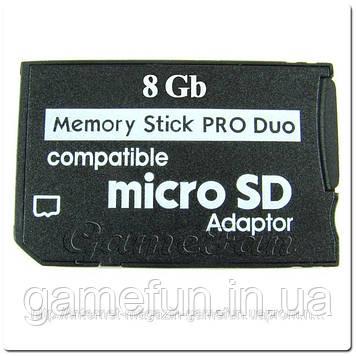 PSP Memory Stick Pro Duo 8Gb (Переходник)