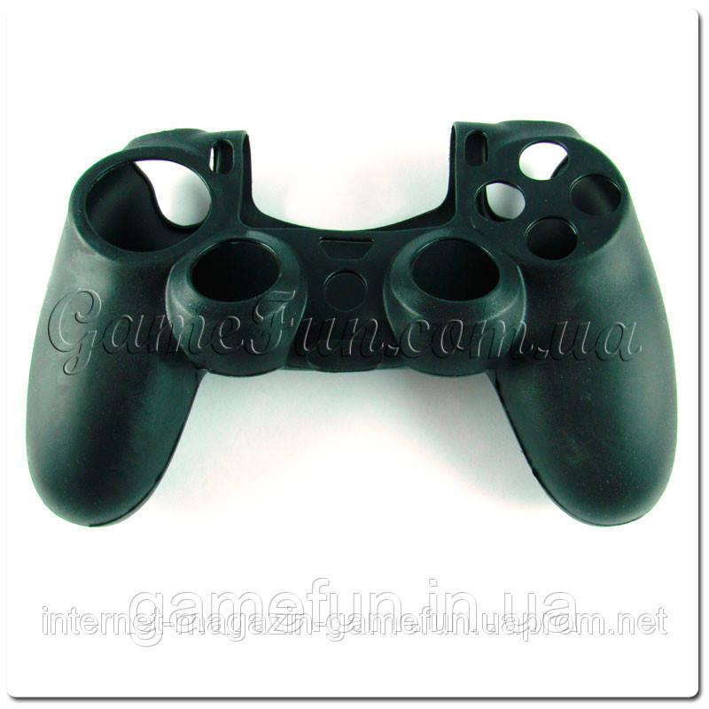 Силиконовый чехол для джойстика PS4 (Black)
