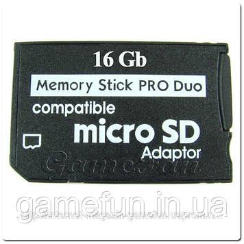 PSP Memory Stick Pro Duo 16Gb (Переходник)