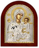 Икона  Иверской Божией Матери Серебряная Silver Axion (Греция)  110 х 130 мм