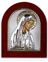 Икона Мария Серебряная с позолотой Silver Axion (Греция)  55 х 70 мм