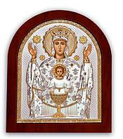 Неупиваемая Чаша икона Серебряная с позолотой Silver Axion (Греция)  156 х 190 мм