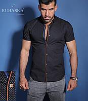 Рубашка мужская с коротким рукавом черная