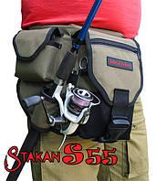 Поясная сумка для рыбалки ideaFisher Stakan S55 с держателем удилища