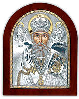 Икона Святого Николая Silver Axion (Греция) Серебряная с позолотой 200 х 250 мм