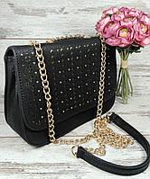 Женская маленькая сумка через плечо на цепочке