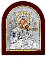 Икона Страстная Божией Матери Silver Axion (Греция) Серебряная с позолотой 85 х 100 мм