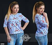 Весенняя блуза большой размер