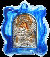 """Икона Божией Матери Почаевская Позолота с серебром на стекле """"Мурано"""""""