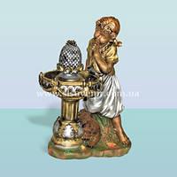 Декоративный комнатный фонтан для дома и сада Девочка у фонтана
