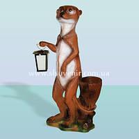 Садовый декор фигурки животных скульптура для сада Суслик с фонарем