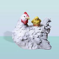 Садовая фигура, ландшафтная скульптура для сада Курица с цыпленком