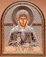 Икона Святой Матроны серебряная Silver Axion (Греция) 85 х 105 мм